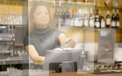 Magister helps you protect your employees: Order the protection panel for cashiers!
