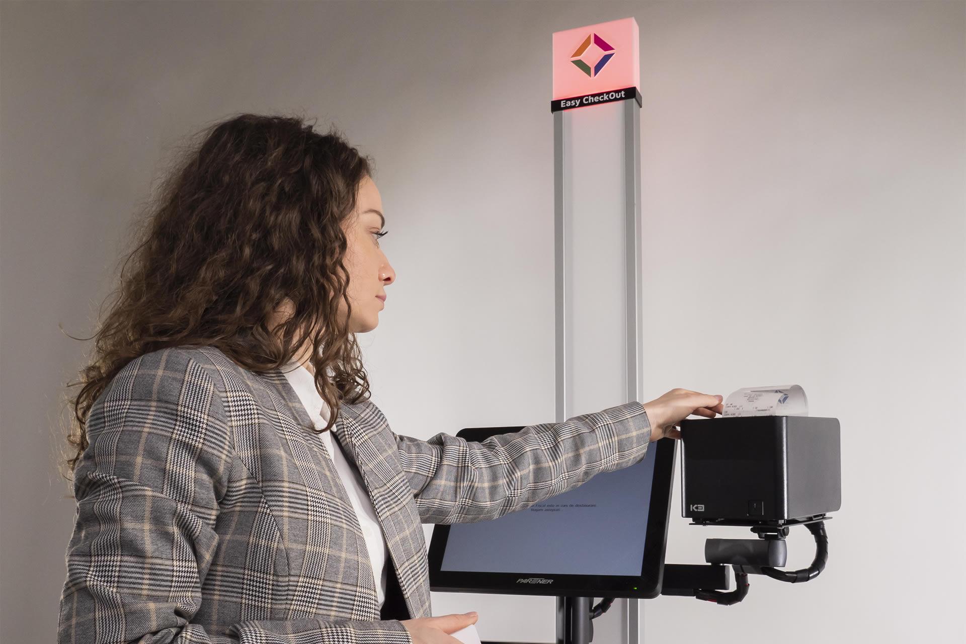 Sistem Self Checkout Casa De Marcat Self Service Magister Eco Plata